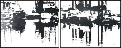 wharf at heriot bay diptych 400